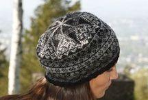 Wool hat...hand knitting...