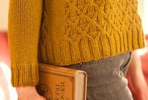 Knit and wool in mustard shade