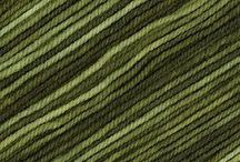 Knit and wool in olive....