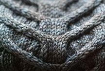 Knit and wool in grey shade....