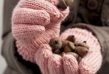 Knit and wool in pink shade...