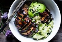 ASIAN INSPIRED | recipes / Asian entrees, soups and salads. When I make Asian-inspired recipes, I naturally think 'healthy'. Be sure to check out my ASIAN NOODLES recipe board.