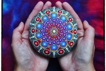 Acrylics on Pebbles