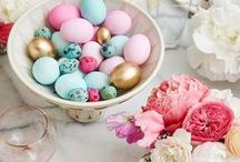 Easter Decor & Crafts / Easter decor ideas including easter egg dyeing tips, table settings and home decor. Easter   Decor   Craft   DIY   Eggs   Dye   Decorate   Table Settings   Natural   Rabbit   Bunny