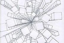 - perspectief tekenen - / Leren perspectief tekenen doe je met behulp van vluchtpunten.