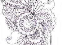 Šablonky / quilting a zentangle