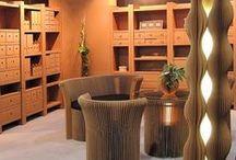 Papírový nábytek / recyklace papíru, vybavení domácnosti