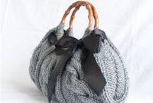 Pletené a háčkované kabelky, tašky
