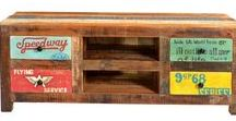 Reclaimed and Upcycled Furniture / Furniture made from recycled or reclaimed or salvaged materials