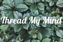 Thread my mind hand embroidery / Hand embroidery art