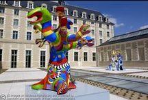 Niki de Saint Phalle / Franse kunstschilder en beeldhouwster  (1930-2002) / by KaSart - Virgo Sapiens Londerzeel