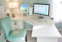 Office at home / As a small business owner I work at home. Inspiration for an office space.