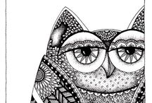 Zentangles, Artwork, Patterns, Doodles, Prints etc / Patterns Prints Doodles Zentangle Ideas  / by Saffron Galleria