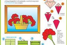 Egyszerű origami és más játékok