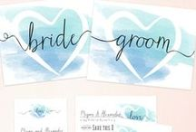 Wedding DIY & free printables / A collection of elegant DIY and free printables for an amazing customised crafty wedding!