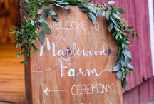 Wedding Signs / Wedding Signage// Mirimichi is a one-of-a-kind wedding venue with a rustic outdoor setting located just 15 minutes from downtown Memphis, Tennessee // mirimichi.com/weddings/