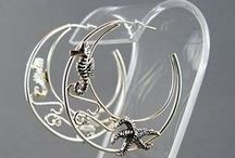 Earrings / Gold and silver earrings