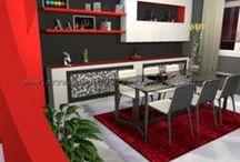 Il living in finta muratura by Consigli D'arredo / Progetto d'arredo in grafica 3D di un living in finta muratura