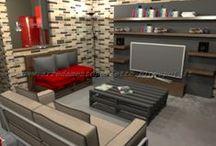 Progetti in 3D / Raccolta di tutti i progetti d'arredo in grafica 3D da cui trarre ispirazione per arredare ogni ambiente della casa