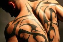 beautifull backpieces / Fantastische backpieces en tribal tattoos