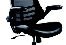 Serene Series...Contemporary Task Seating / The Serene series by OfficeSource provides great back support and promotes good posture. Unique Adjustable cantilever arm (arms lift up) feature allows users to ease body into an ergonomic position for their needs. Upholstered in black with a black base.