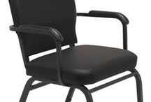 Big-N-Tall Stack Series / Heavy-duty stack chairs that hold up to 500 pounds. Great for use in a church, offices, training rooms, classroom or home. The thick padded seats and backs will keep users comfortable and stylish. Made in the USA these chairs are a great value you will be proud to own. Upholstered in Black Healthcare Antimicrobial Vinyl.