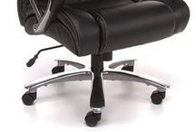 """Avenger Series... Big & Tall Executive Chair / With a 500 pound weight capacity, the Avenger Series Big & Tall Executive Seating provides comfortable seating for just about anyone. The padded arms and 5""""thick padded seat will create an inviting place to sit while you work. Soft, supple synthetic leather is carefully stitched and tufted for plush comfort. Wheel the chair around your office with ease thanks to the 28"""" five-star polished chrome base. Greenguard Certified. Meets or exceeds ANSI/BIFMA standards."""