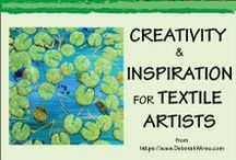 Creativity & Inspiration for Textile Artists & Quilters / Creative ideas + Inspiration for artists working with textiles   Quilting   Thread painting   Mixed media   Fabric paint   Textile art   Free motion stitching  Fibre art   Join my free Resource Library https://deborahwirsu.leadpages.co/resource-library/