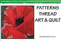 Patterns - Thread Art & Quilt / Quilt patterns   Quilt templates   Thread sketching patterns   Thread painting patterns   Fabric paints   Fibre art for sale   Free fibre art patterns   Free quilting patterns   Downloadable quilt patterns   Downloadable thread painting patterns   Downloadable thread sketching patterns   Downloadable machine embroidery patterns   Join my free Resource Library https://deborahwirsu.leadpages.co/resource-library/