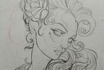 Desenhos tutoriais / desenhos artísticos, mangá, HQs e etc.