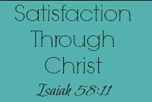 Satisfaction Through Christ - New and Recent Content from STC Blog / ---Being satisfied in life in Christ Jesus.--- That sounds like an amazing life goal, doesn't it? We are walking there with you with scripture based posts, resources, printables and more on our wordpress blog, Satisfaction Through Christ (.com!) This board is all about Satisfaction in the King of Kings!