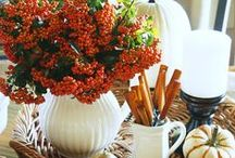 Fall Tablescapes / The candles are spiced, the oven is warm, the leaves begin to fall and fresh flowers complete the table - It's Autumn!