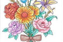 mes coloriages / coloriages aux feutres et aux crayons de couleur