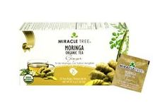 Miracle Tree's Organic Moringa Tea: Ginger / This spicy blend of Moringa dried leaves and ginger come together perfectly and results in a healthy and delicious drink making it a truly ideal addition to your daily routine. Our tea is unique – it's made of organic Moringa! We source our artisan tea from our own Moringa plantations in Sri Lanka.  Enjoy a box of 25 individually-enveloped tea bags made with USDA and EU certified Organic Dried-Leaf Moringa.