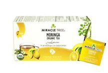 Miracle Tree's Organic Moringa Tea: Lemon / This soothing blend of Moringa dried leaves and lemon tastes great and comes packed with all the healthy Moringa goodness. Feel calm and relaxed after drinking this tea. Our tea is unique – it's made of organic Moringa! We source our artisan tea from our own Moringa plantations in Sri Lanka. Enjoy a box of 25 individually-enveloped tea bags made with USDA and EU certified Organic Dried-Leaf Moringa.