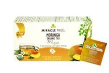Miracle Tree's Organic Moringa Tea: Mango / Our award-nominated Mango and Moringa herbal infusion is a pure and delightful mango medley, which blends a delicate fruity flavor with the powerfully nutritious Moringa leaves for an aromatic adventure. Our tea is unique – it's made of organic Moringa! We source our artisan tea from our own Moringa plantations in Sri Lanka.  Enjoy a box of 25 individually-enveloped tea bags made with USDA and EU certified Organic Dried-Leaf Moringa.
