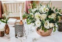 Table Decorations / Table Decorations from Weddings at Eschol Park House and some inspiration!
