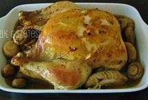 beyaz etler/kanatlı etleri/tavuklar/tavuklu yemekler