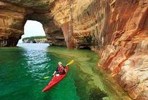 Michigan's Upper Peninsula / All about Michigan's upper half - the U.P.! Surrounded by three of the Great Lakes and filled with beautiful scenery, there's always something to see and explore in Michigan's Upper Peninsula.