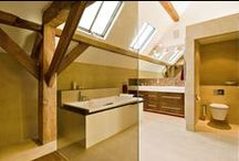 Beautiful bathrooms / A section of beautiful bathrooms in Carpenter Oak and Woodlands bespoke oak framed homes