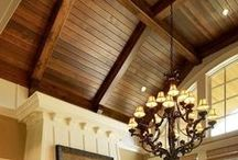 Wood Ceiling Ideas / Whether it is elegant or rustic there is just something special about wood ceilings!