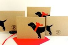 Silhouette Style / Beautiful silhouette art! // Best in Shore sells eco-friendly, block-printed paper and textiles to generate funds for small, independent animal rescue organizations. Give gifts that give back: www.etsy.com/shop/BestInShore