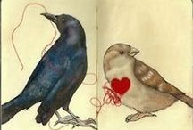 Counting Crows / Crow Love // Best in Shore sells eco-friendly, block-printed paper + textiles to generate funds for independent animal rescue organizations. www.etsy.com/shop/BestInShore