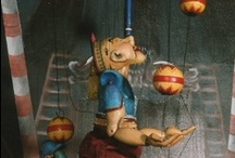 on a string / puppets, marionettes, dolls, robots / by Cathy Wheelock Caster