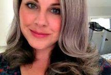 GROWING OLDER GRACEFULLY / Silver hair is the crowning glory of the aged.