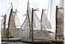 DRIFTWOOD and SEA SHELL INSPIRATION / Things made from driftwood - sea shell decor