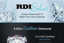 "RDI Selects / Hand selected diamonds in our ""Diamond Spotlight"""
