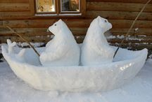 Incredible Ice & Snow Sculptures / Cool ice and snow (pun intended!) sculptures.  Amazing!  Take a look before they melt!