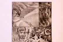 MY WORK.Gravura. Colaje din gravuri/Engrawing.Collage of engrawing/