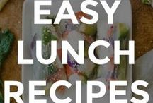 EASY LUNCH RECIPES / My favorite lunch recipes. Everything from healthy salads, to sandwiches and burgers.  // lunch recipes easy // simple lunch recipes // what to pack for lunch // homemade lunch recipes // easy lunch recipes for work // easy lunch recipes for kids //